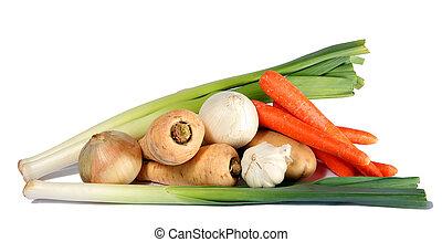 Winter vegetable display