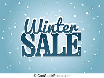 winter, verkoop