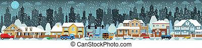 (winter), vida de la ciudad