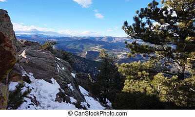 Winter view of Rocky mountain