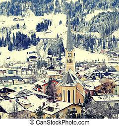Winter village in the Austrian Alps