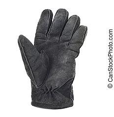 winter, vrijstaand, handschoen, suede