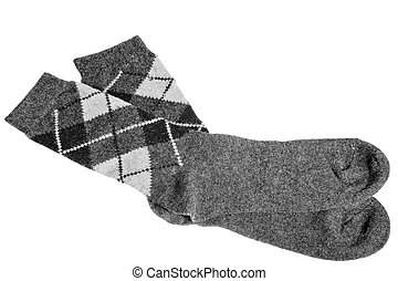 winter warm socks with a pattern of gray