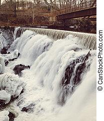 Winter Water Falls, Yantic Falls, Norwich CT