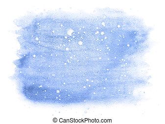 Winter watercolor background with snow
