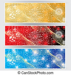 Winter web banners 3 colors