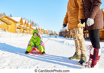 Winter weekend with kids