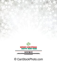 Winter white background christmas made of snowflakes and snow with lighting blank copy space for your text