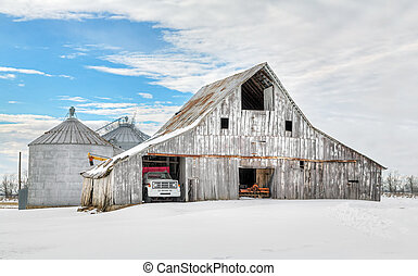 Winter White Barn