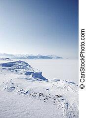 winter, wildernis, sneeuw