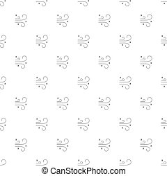 Winter wind background from line icon. Linear vector pattern.