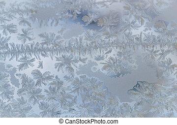 winter window close-up