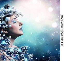 Winter Woman Portrait - Beauty