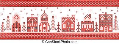 Winter wonderland town