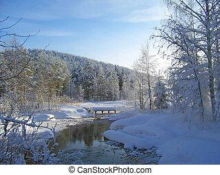 winter landscape in arctic