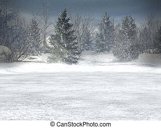 Winter wonderland, xmas - Winter, xmas; christmas landscape...