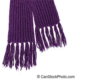 winter woolen scarf isolated on white background