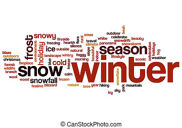 Winter word cloud - Winter concept word cloud background