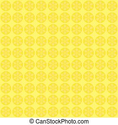 Winter yellow background with crystallic snowflakes.