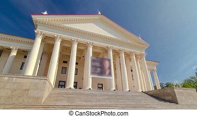 Winter Zimny Theater timelapse hyperlapse in Sochi, Russia -...