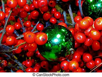 Winterberries with green globe