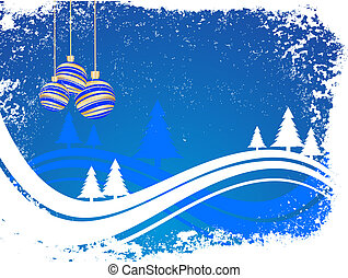 winter/christmas scene - vector illustration of an abstract...