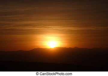 Winterhoek Sunset in Africa