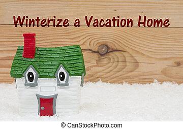 winterize, su, home de vacaciones