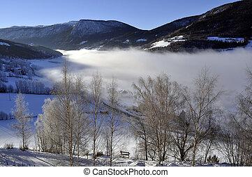 winterlandscape in morningsun