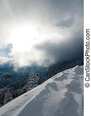 Winterlandscape with clouds