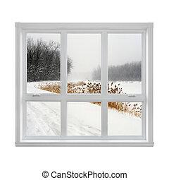 fenster durch winter ansicht betriebe isoliert winter stockfoto bilder und foto. Black Bedroom Furniture Sets. Home Design Ideas
