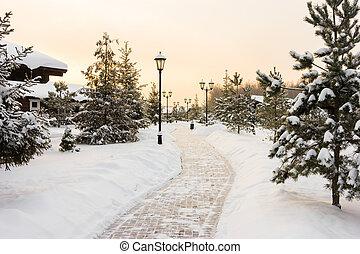 winterlandschaft, nacht