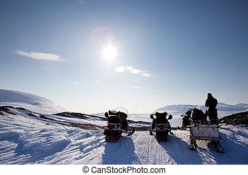 winterlandschap, avontuur