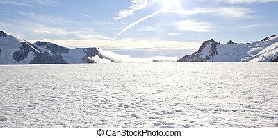 winterlandschap, panorama
