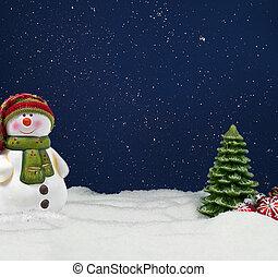 winterly, neve, fundo, homem