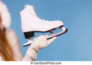 winterly, skate., branca, equipamento