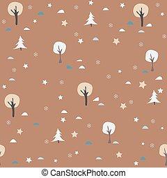 winter/merry, winter, pattern., seamless, verzameling, kerstmis