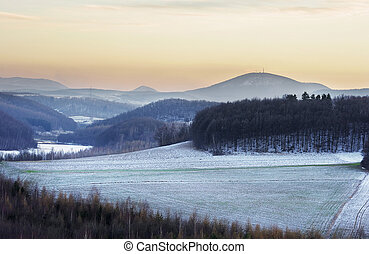 Winters scenery in the hills