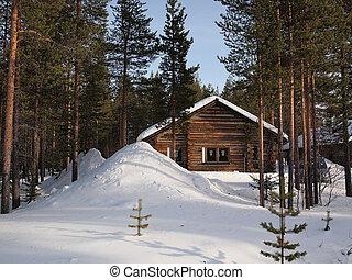 wintersport, chalet, romántico