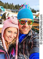 wintersport, portrait, selfie