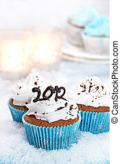 Wintery cupcakes - Wintery cupcakes to celebrate the new...