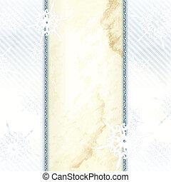 Wintry elegant Victorian banner