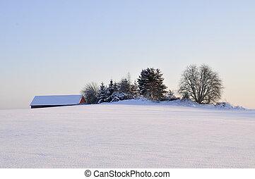 Wintry landscape in Sweden