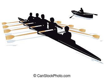 wioślarstwo łódka