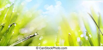 wiosna, abstrakcyjna sztuka, tło, natura