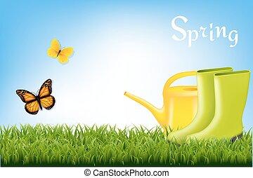 wiosna, chorągiew