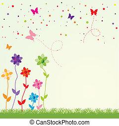 wiosna, ilustracja