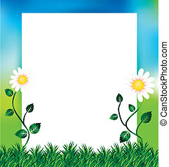 wiosna, kopia, tło, przestrzeń