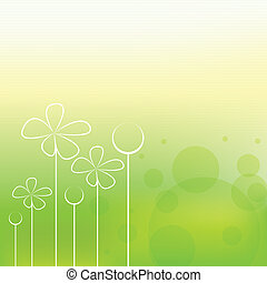 wiosna, tło, piękny