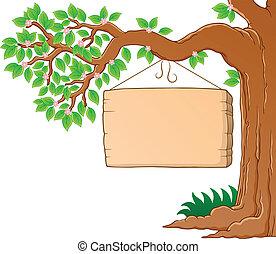 wiosna, wizerunek, drzewo 3, temat, gałąź